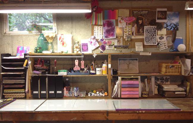 Femi Ford: art studio - before
