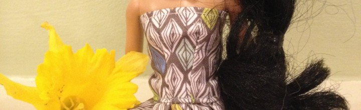 Jasmine's new hand-made dress