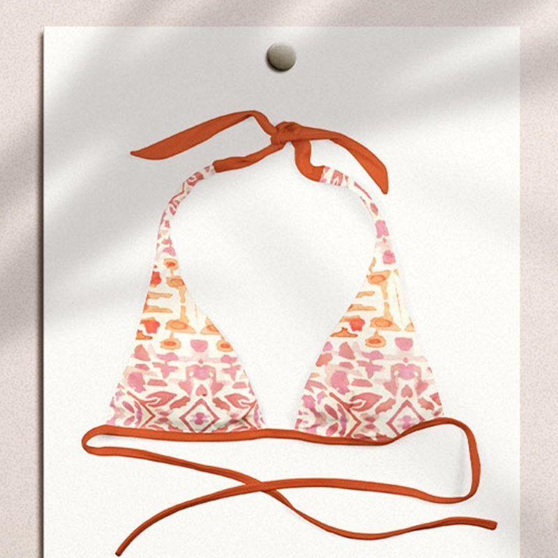 bohemian bikini textile design